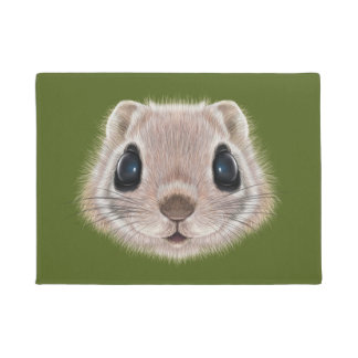Tapete Retrato ilustrado do esquilo de vôo