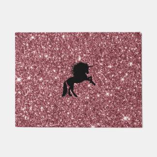 Tapete rosa sparkling do unicórnio