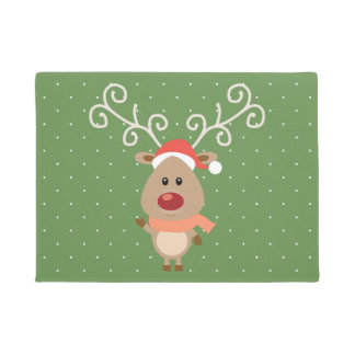 Tapete Rudolph bonito os desenhos animados cheirados