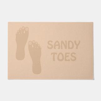 Tapete Sandy Toes a esteira de porta da casa de praia