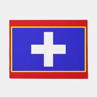 Tapete símbolo central da região do país da bandeira da