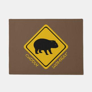 Tapete sinal de estrada do wombat - doormat