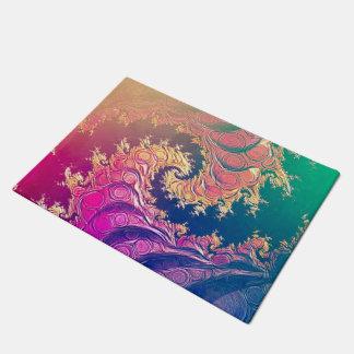 Tapete Tentáculos do polvo do arco-íris em uma espiral do