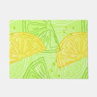 Tapete Teste padrão brilhante dos limões do citrino do