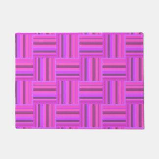 Tapete Teste padrão cor-de-rosa do weave das listras