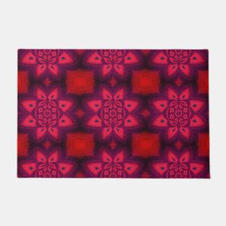 Tapete Teste padrão floral abstrato do vermelho