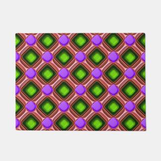 Tapete Teste padrão roxo da gema
