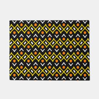 Tapete Teste padrão tribal abstrato do amarelo alaranjado