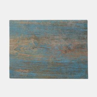 Tapete Textura azul da madeira da praia do falso