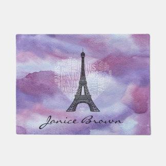 Tapete Torre e inscrição Paris no coração