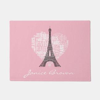 Tapete Torre Eiffel & inscrição Paris no coração