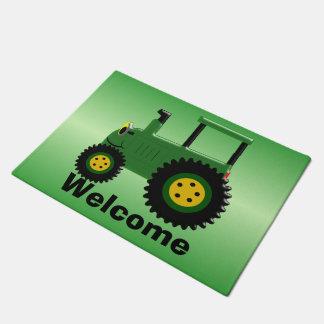 Tapete Trator verde personalizado