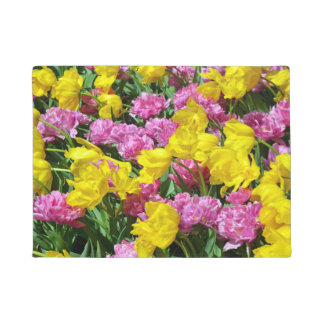 Tapete Tulipas do primavera do rosa e do amarelo