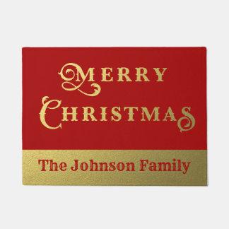 Tapete Vermelho do Feliz Natal e boa vinda personalizados