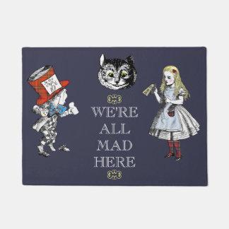 Tapete Vintage Alice na arte do país das maravilhas