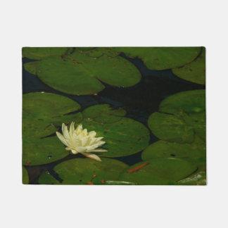 Tapete Waterlily branco mim fotografia floral calma