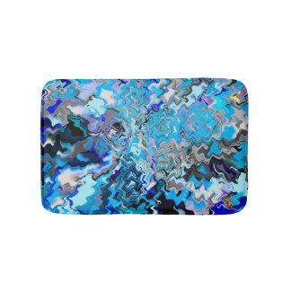Tapetes do banheiro & esteiras Paisley azul chique