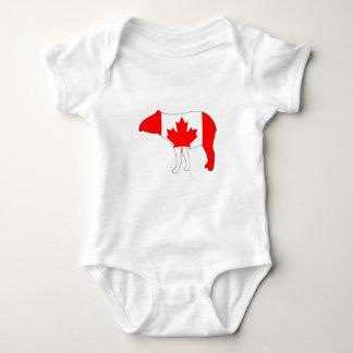 Tapir Canadá Body Para Bebê