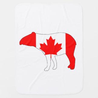 Tapir Canadá Cobertorzinhos Para Bebe