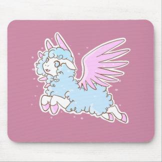 Tapis souris mousepad kawaii fantasy sheep pink