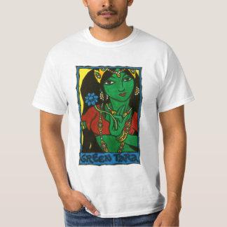 Tara verde camiseta