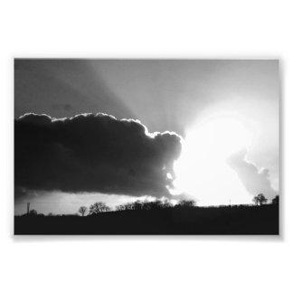 Tarde dos invernos em Lancashire Impressão De Foto