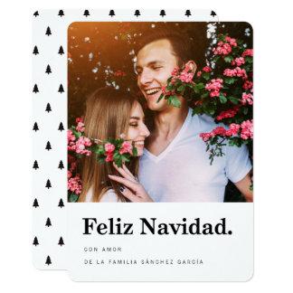 Tarjeta Navideñas de Fotos | Tipografía Moderna Convite 12.7 X 17.78cm
