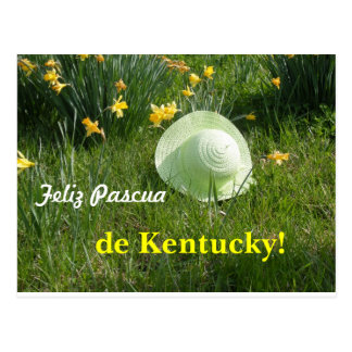 Tarjeta postal… Feliz Pascua de Kentucky Cartão Postal