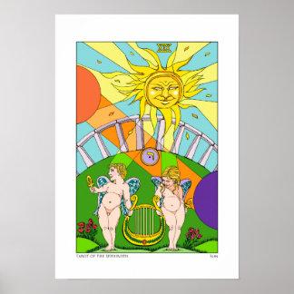 Tarot do impressão de Sephiroth Sun