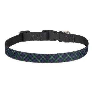 Tartan azul escuro e de Forest Green Malcolm do Coleira Para Cão