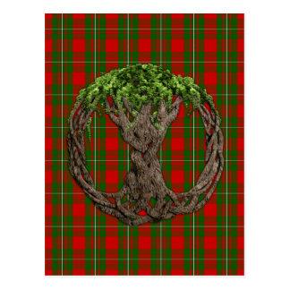 Tartan de MacGregor do clã e árvore do céltico de Cartão Postal