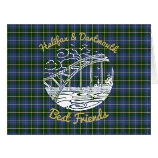 Tartan do cartão dos melhores amigos de Halifax