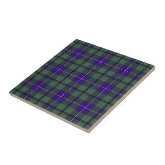 Tartan do Scottish de Douglas Azulejo Quadrado Pequeno
