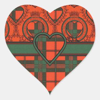 Tartan do Scottish de Scott Adesivo Coração