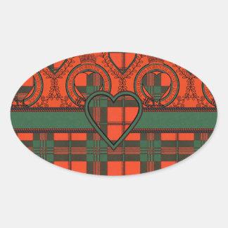 Tartan do Scottish de Scott Adesivo Oval