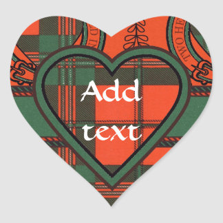 Tartan do Scottish de Scott Adesivo Em Forma De Coração