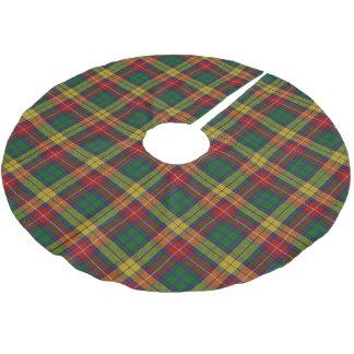 Tartan escocês de Buchanan do clã Cobertura Para Árvore De Natal De Poliéster