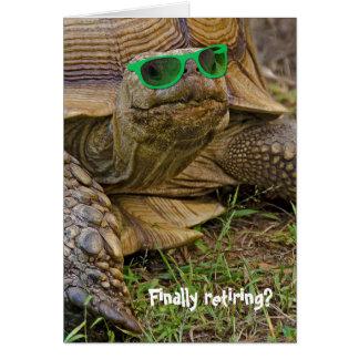tartaruga Aposentadoria-velha com óculos de sol Cartão Comemorativo