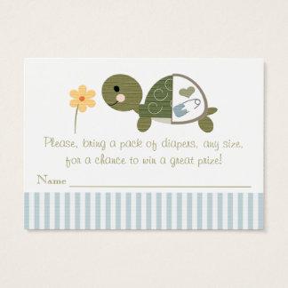 Tartaruga azul em bilhetes do Raffle da fralda Cartão De Visitas