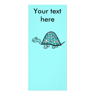 Tartaruga azul pequena bonito 10.16 x 22.86cm panfleto