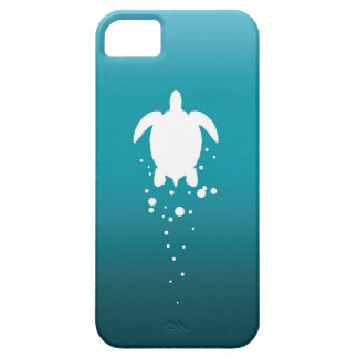 Tartaruga & bolhas de mar contra o oceano azul capa para iPhone 5