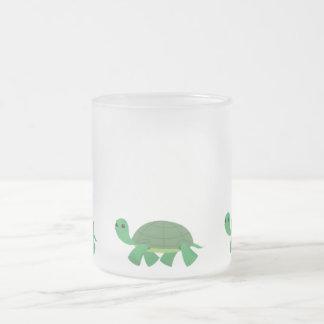 Tartaruga bonito 10 onças. Caneca do vidro de