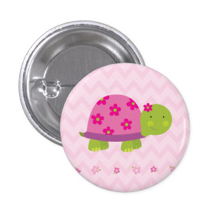 Tartaruga bonito botão personalizado para meninas bóton redondo 2.54cm