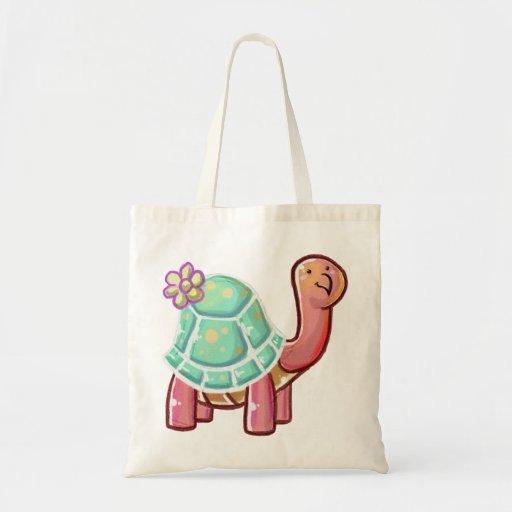 Tartaruga bonito da flor dos desenhos animados bolsa para compra