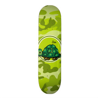 Tartaruga; camo verde-claro, camuflagem skate
