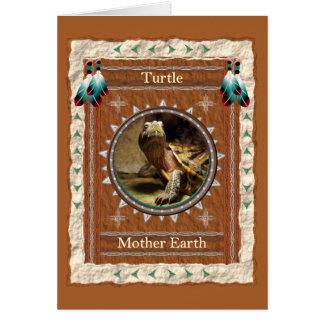 Tartaruga - cartão do costume da terra de mãe