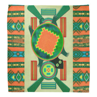 Tartaruga da arte popular do nativo americano panos para cabeça
