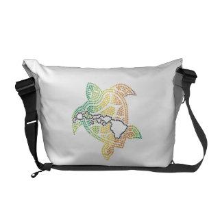 Tartaruga da reggae das ilhas de Havaí Bolsas Mensageiro