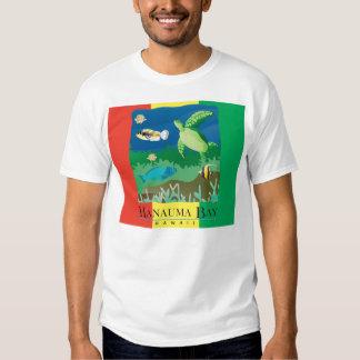 Tartaruga da reggae de Havaí da baía de Hanauma T-shirts