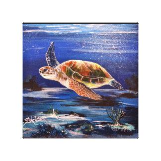 """Tartaruga de mar 10"""" x 10"""" impressão das canvas"""